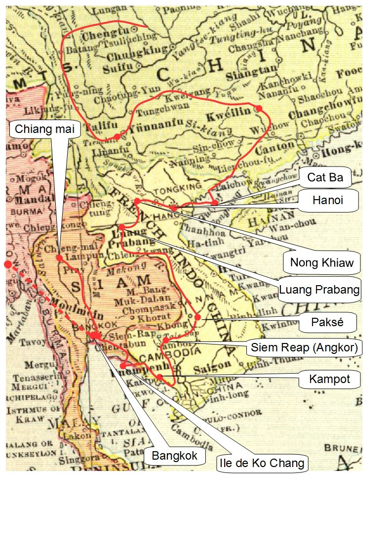 Carte Voyage Chiang Mai