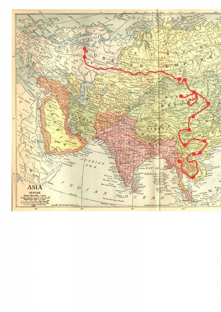 Carte Voyage Générale